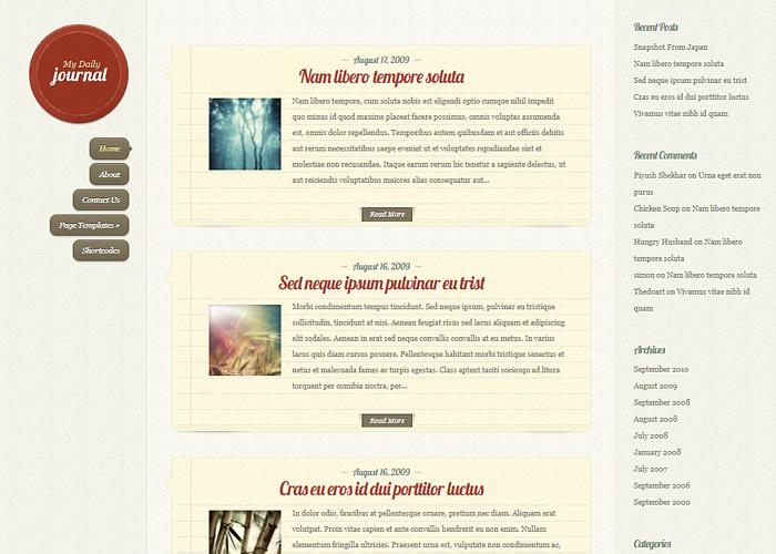 DailyJournal Responsive WordPress Theme