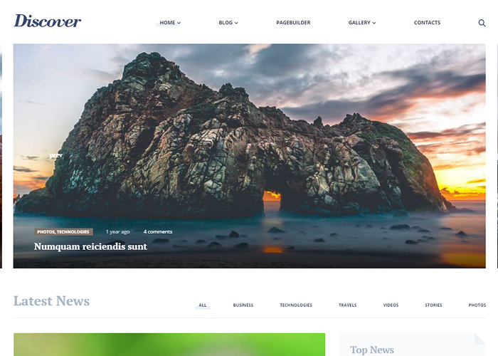 Discover - Travel & Lifestyle MultiConcept Blog Theme