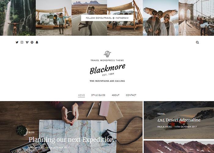 Blackmore - Responsive WordPress Blog / Magazine Theme