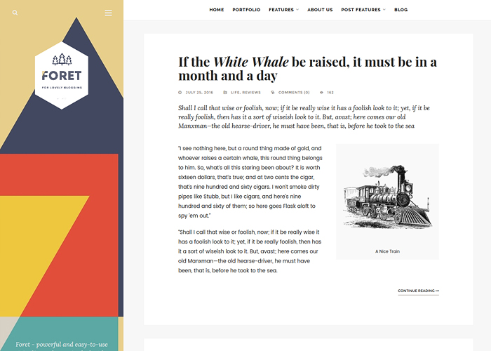 Foret - Creative theme for writers, artists and bloggers