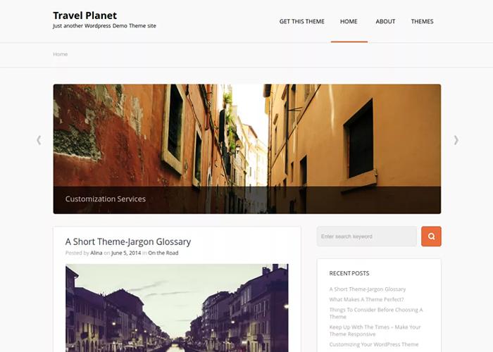 Theme Travel Planet