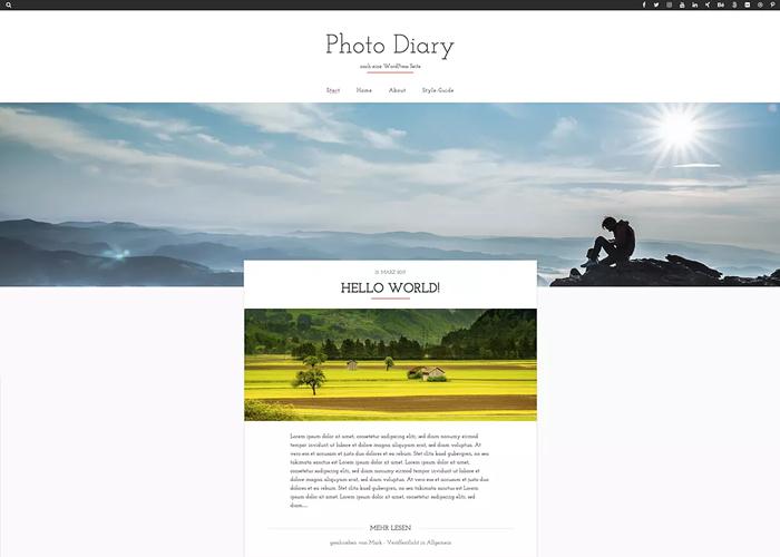 Theme Photo Diary