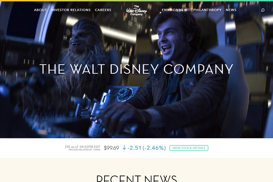 Site The Walt Disney Company