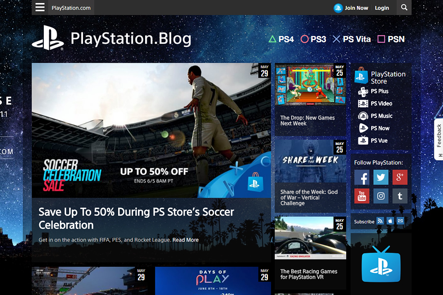 Site PlayStation.Blog