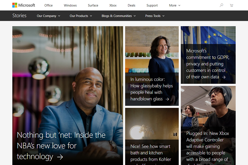Site Microsoft News Center
