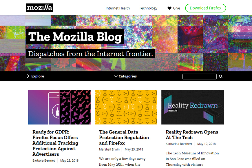 Site The Mozilla Blog