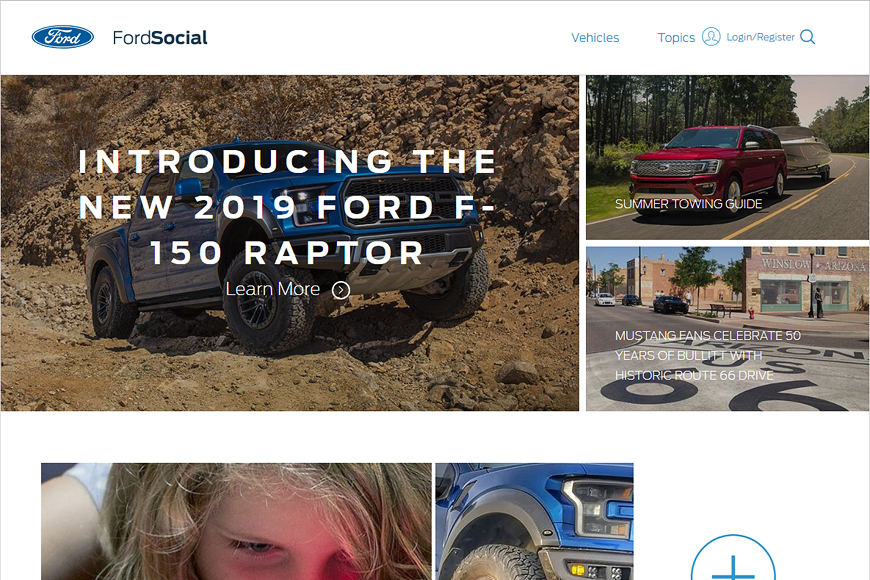 Site Ford Social