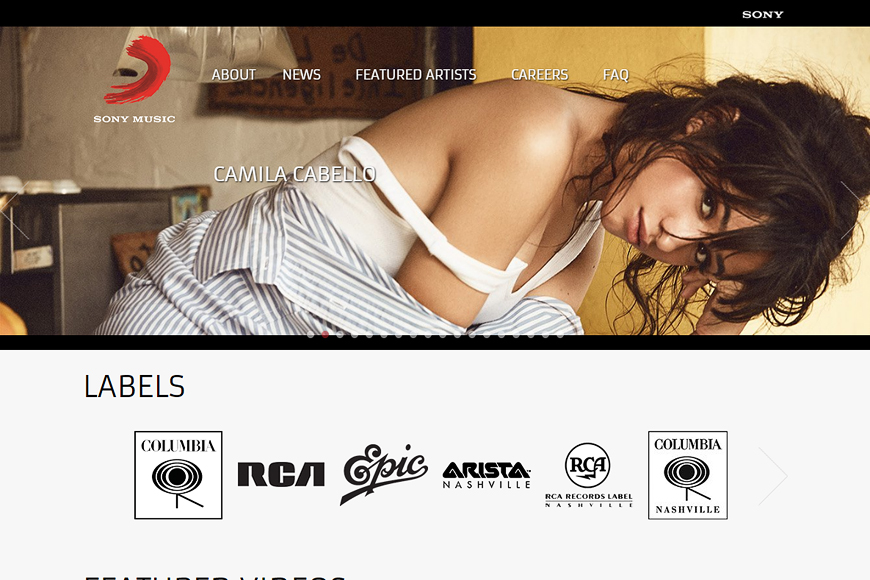 Site Sony Music