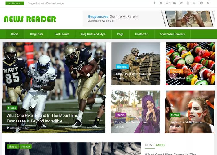 Theme News Reader