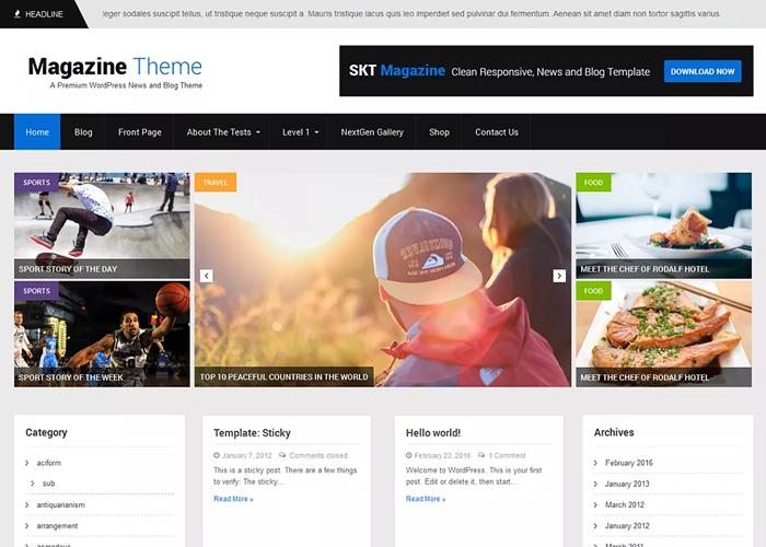 Theme SKT Magazine