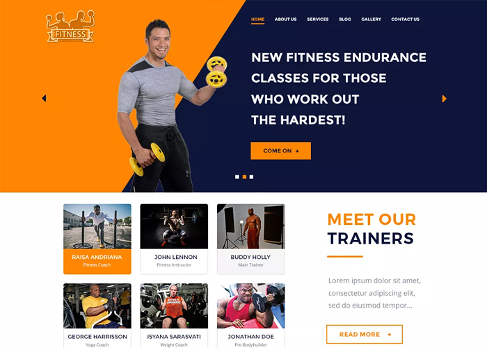 Theme The WP Fitness