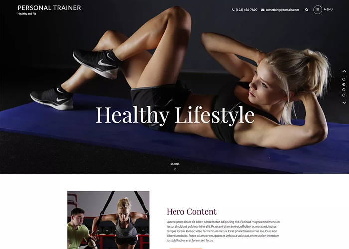 Theme Personal Trainer