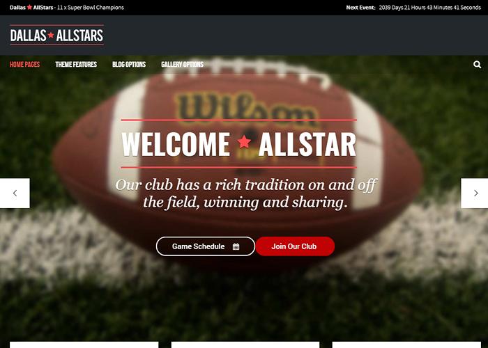 AllStar - WordPress Club Theme
