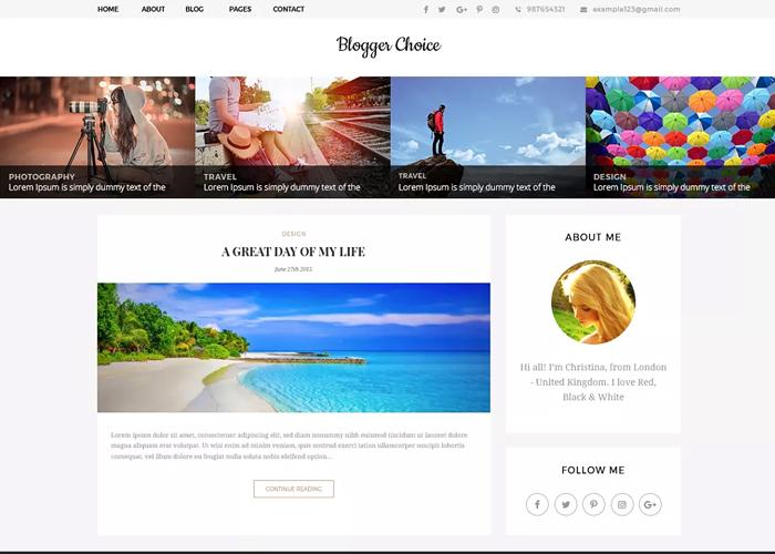 Theme Blogger Choice