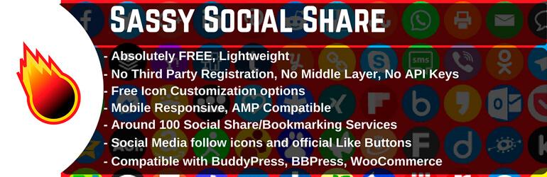 Плагин WordPress Social Sharing Plugin — Sassy Social Share