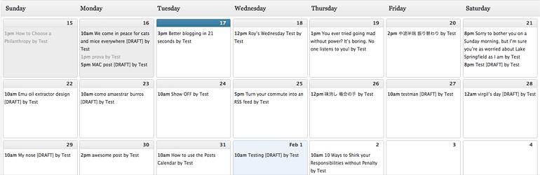 Plugin Editorial Calendar