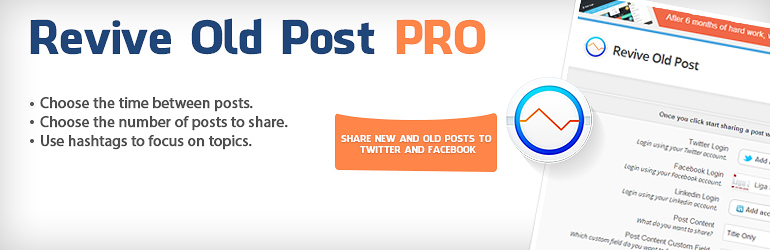 Plugin Revive Old Posts – Auto Post to Social Media