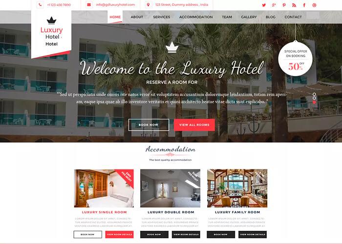 Тема Hotel Resort