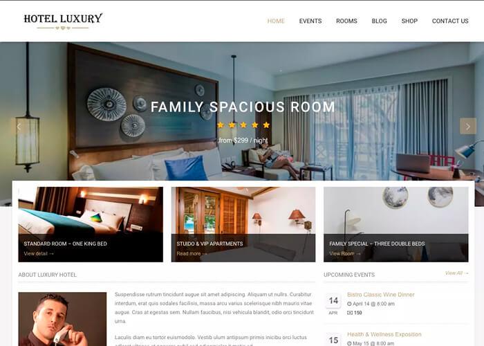 Тема Hotel Luxury