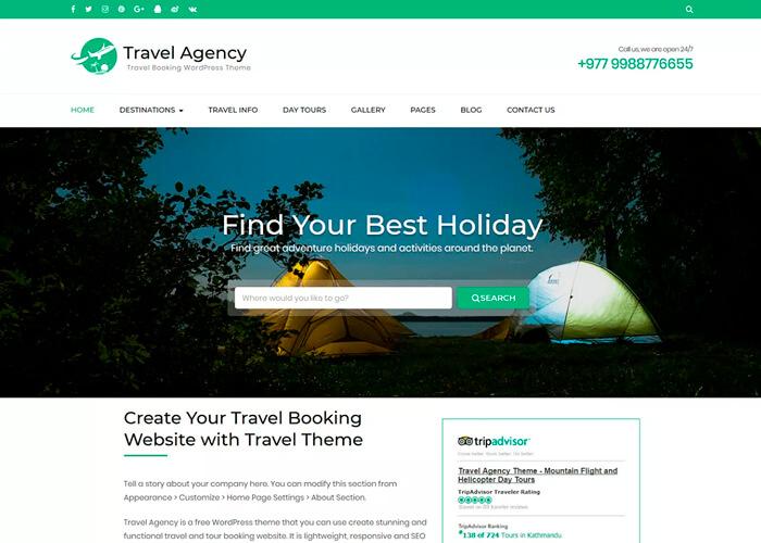Тема Travel Agency