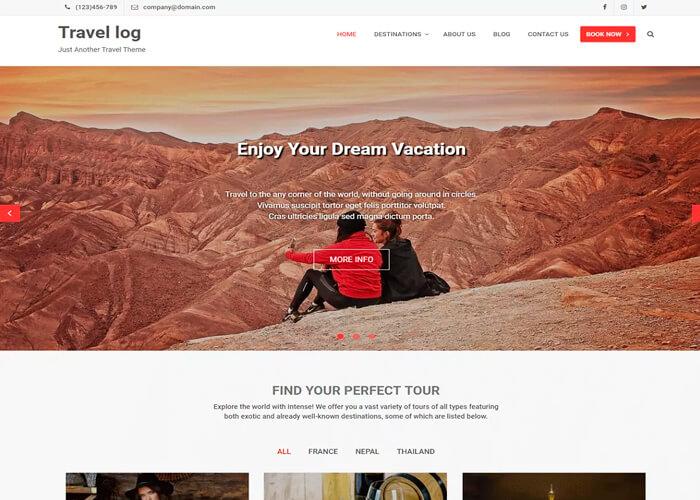 Тема Travel Log