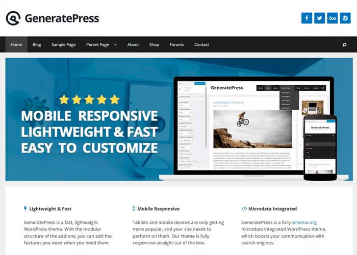 Тема GeneratePress
