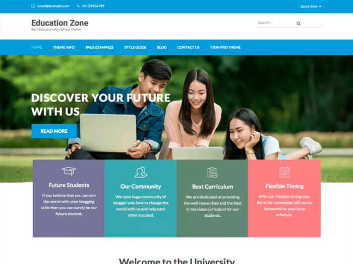 Тема Education Zone