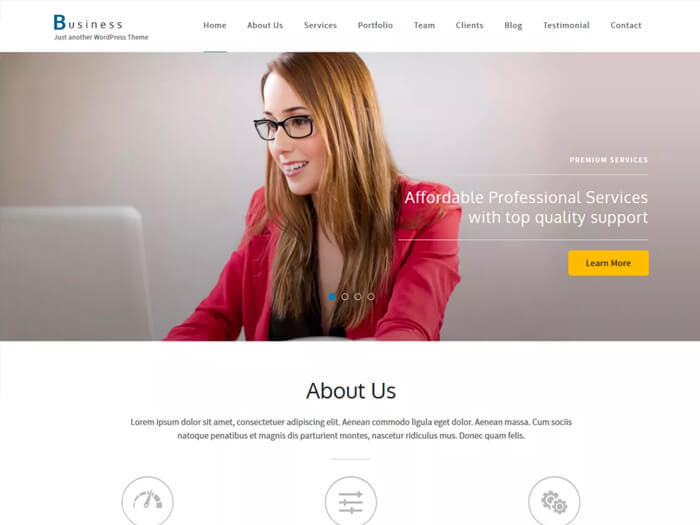Тема Business One Page
