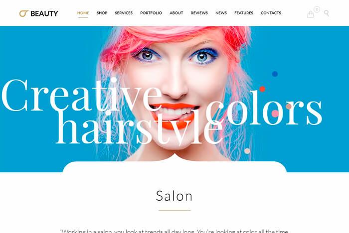 Beauty Hair Salon - Theme for Hair Salon , Barber Shop and Beauty Salon