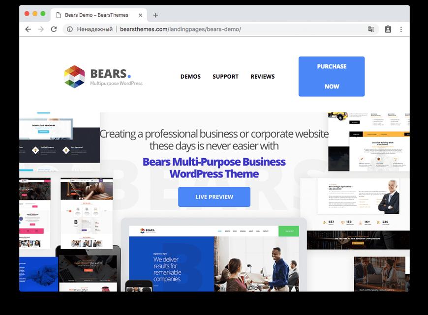 Bears - Multipurpose Business WordPress Theme