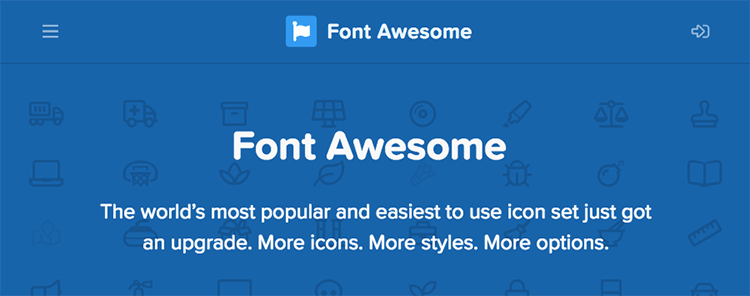 Icon Font Awesome