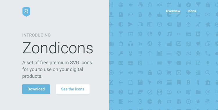 Icon Font Zondicons