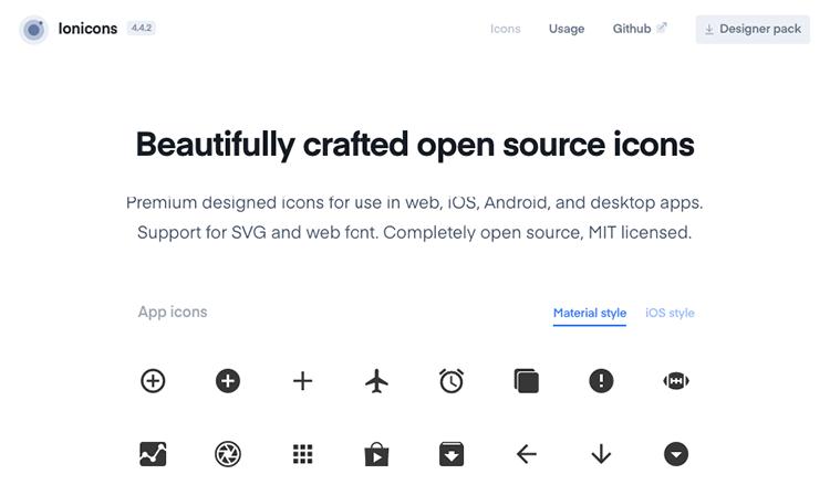 Icon Font Ionicons