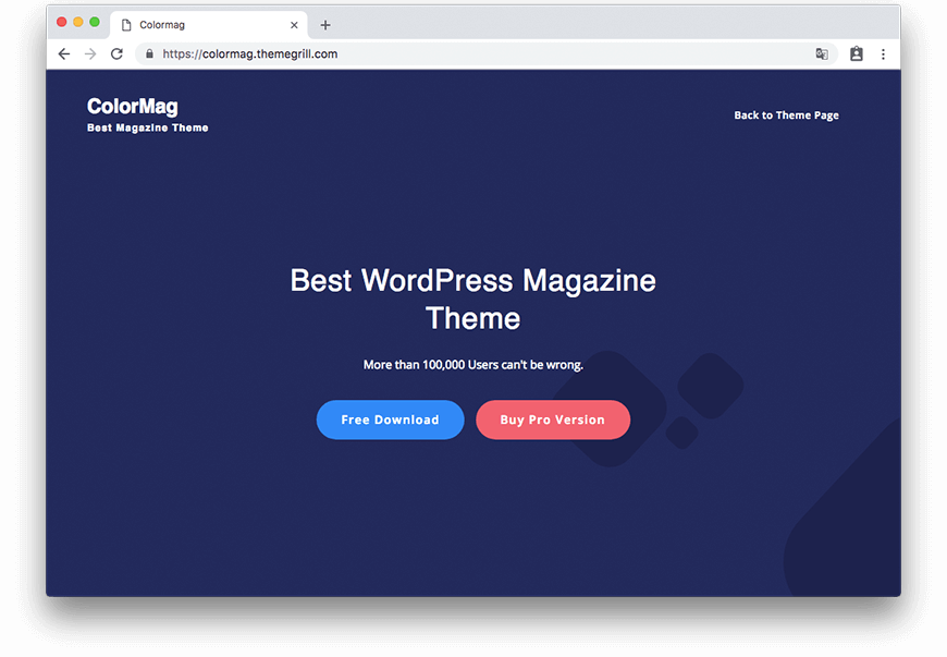 Theme ColorMag