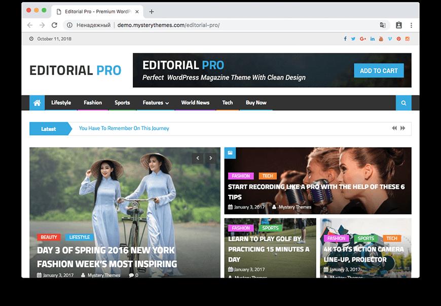 Theme Editorial Pro