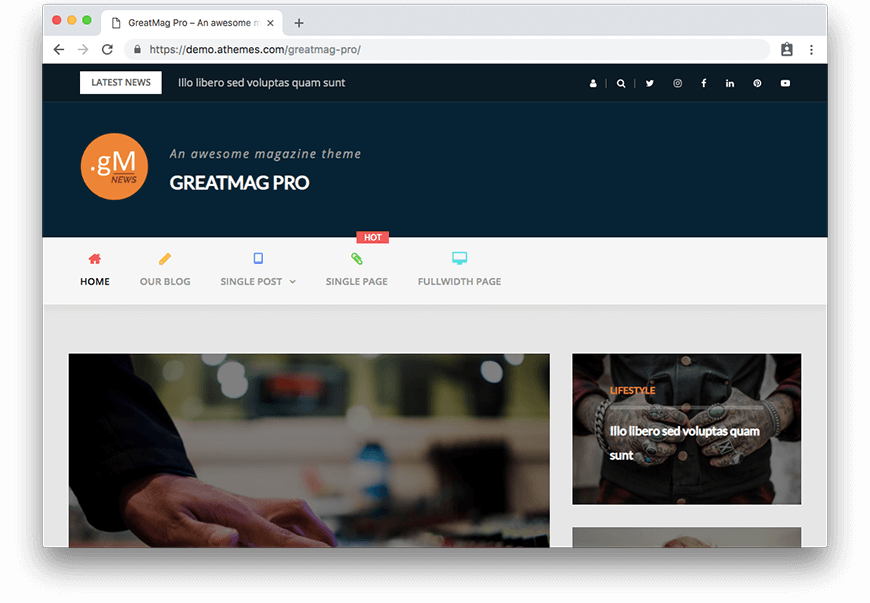 Theme GreatMag Pro