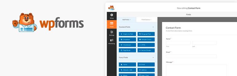 Контактная форма от WPForms — генератор динамических форм для WordPress