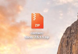 Скаченный архив плагина Contact Form 7