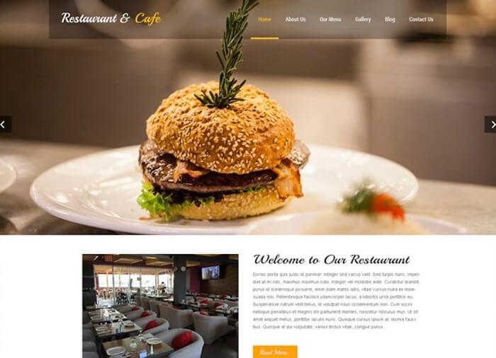WordPress Theme Restaurant Lite
