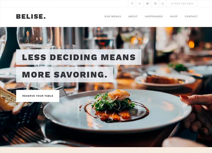 WordPress Theme Belise Lite