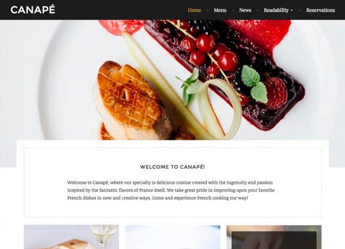 WordPress Theme Canape