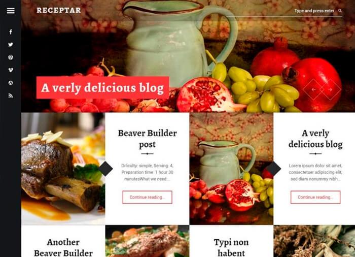 WordPress Theme Receptar