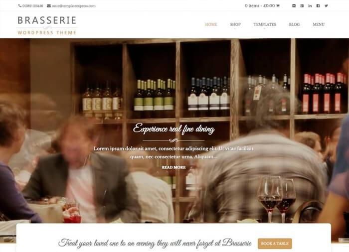 WordPress Theme Brasserie