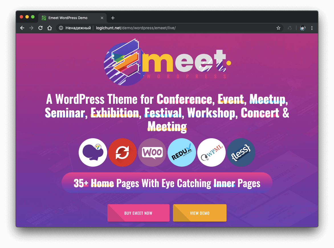 Event WordPress | Emeet for Event Meetup and Conference