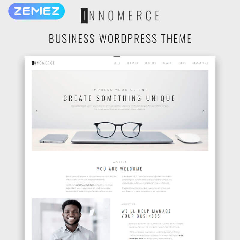 WordPress шаблон Innomerce - Business Multipurpose Minimal Elementor
