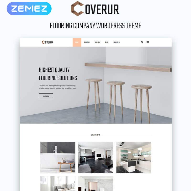 WordPress шаблон Coverur - Flooring Company Multipurpose Minimal Elementor