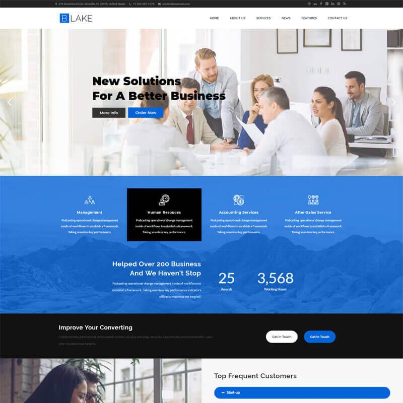 WordPress шаблон Blake Business Services
