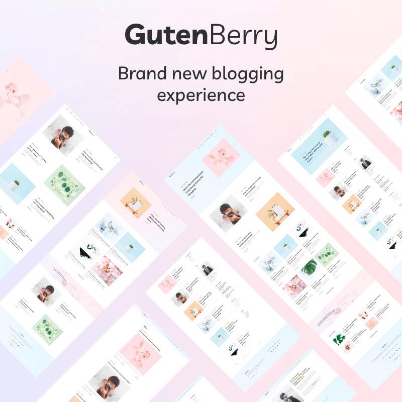 Gutenberry — Gutenberg-based Clean Blog