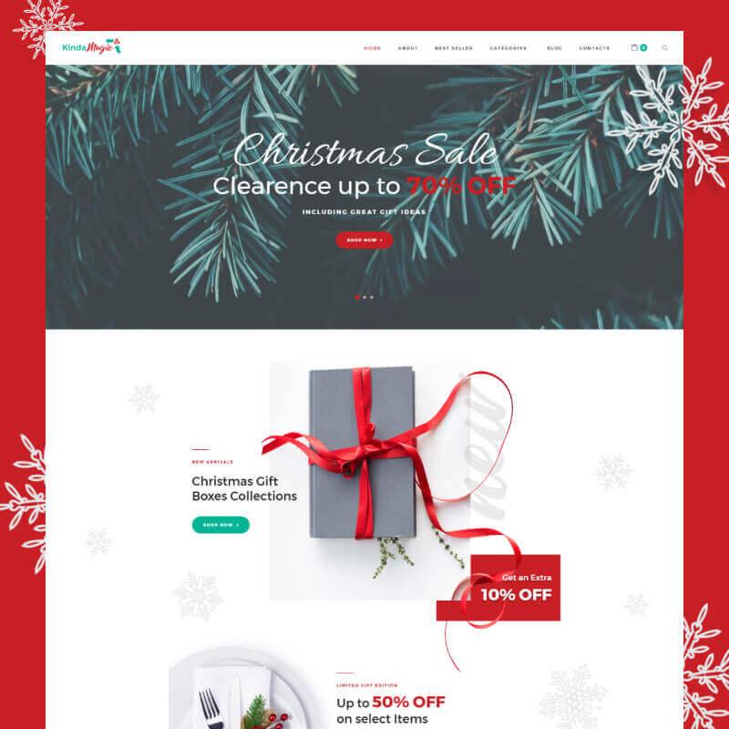 WooCommerce шаблон Kinda Magic - Magical And Inspiring Christmas