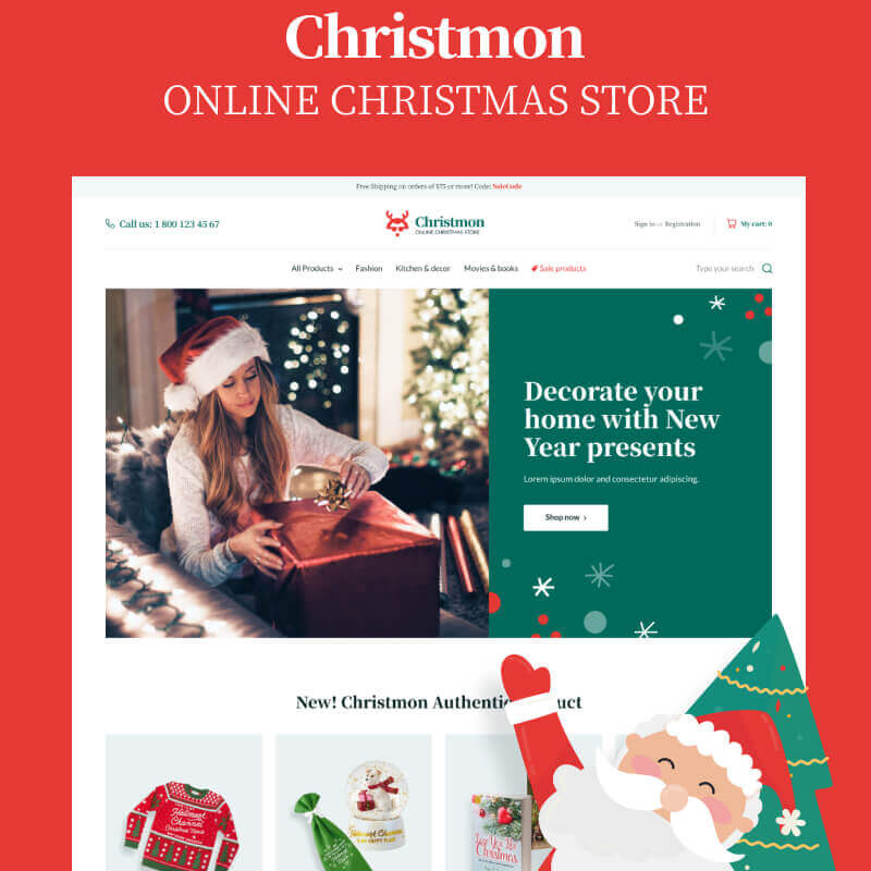 WooCommerce шаблон Christmon - Christmas Handicraft eCommerce Website